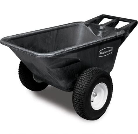 Rubbermaid Garden Cart by Rubbermaid Heavy Duty Garden Cart With Pneumatic Wheels