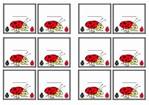 printable insect name tags ladybug name tags birthday printable