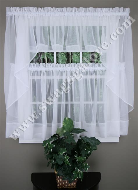 sheer elegance curtains sheer elegance kitchen curtains white stylemaster