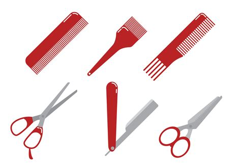 twist hairstyle tools clipart icons barber tools vector free vector stock