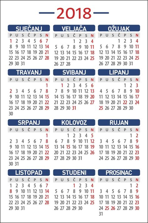 Kalendar 2018 Uskrs Tiskara Parko Zagreb Tisak Kalendara Kalendari 2018