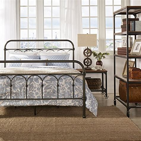 Vintage Style Metal Bed Frame Vintage Metal Bed Frame Antique Rustic Bronze Cast Knot Headboard Footboard Retro Country