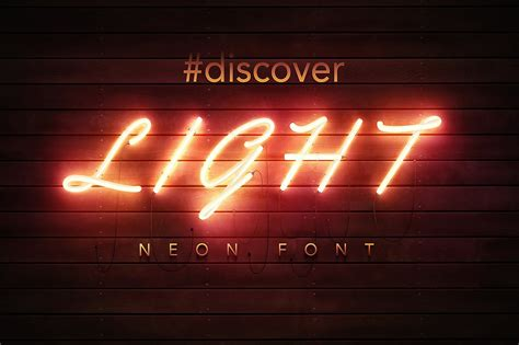 font neon 40 outstanding photoshop text effects for designers