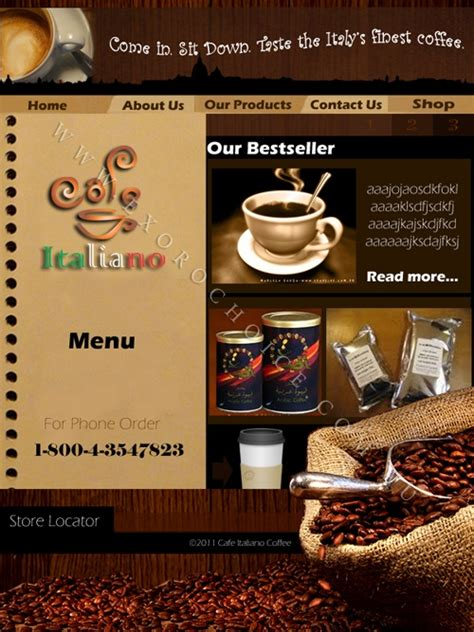 coffee shop design companies coffee company webpage design sle webpage design for a