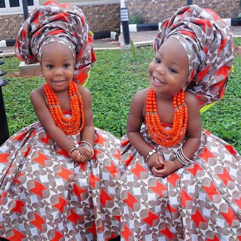 nigerian native styles for children chacha ekeh s daughter celebrates her birthday today