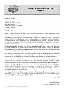 best photos of standard letter of recommendation sle