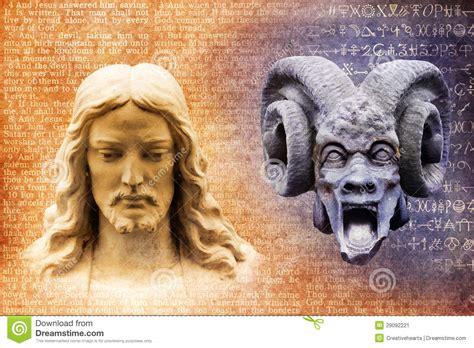 grazie ges testo ges 249 cristo e satana il diavolo immagine stock immagine