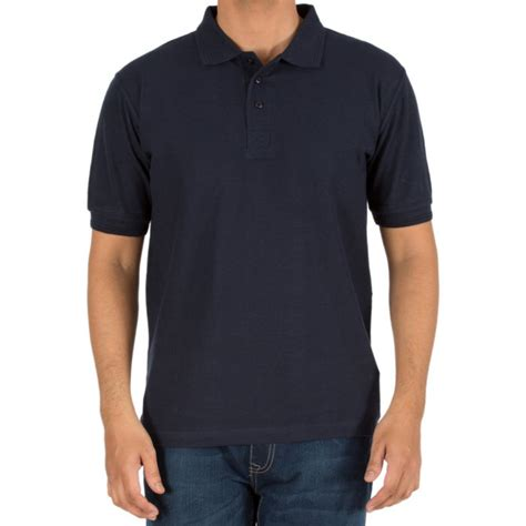 Navy Donker Blue Polo Shirt What The Heaven buy plain blank collar polo t shirts for