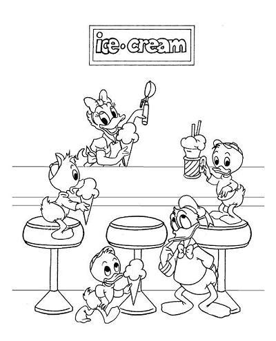 ice cream store coloring page disney coloring page 060