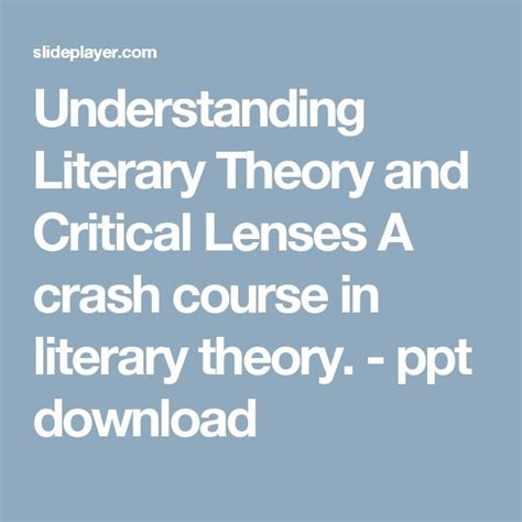 contemporary literary theory pdf 25 best ideas about literary theory on