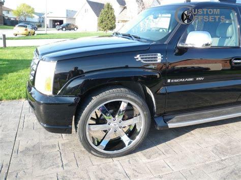 2003 Cadillac Rims wheel offset 2003 cadillac escalade esv flush stock custom