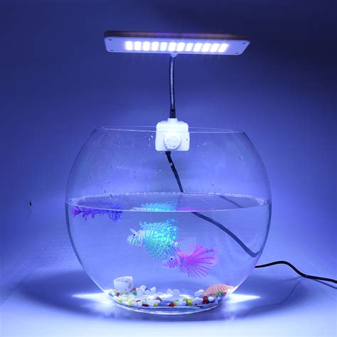 led clip on light aquarium 220v 40 white 8 blue leds aquarium cl clip l light