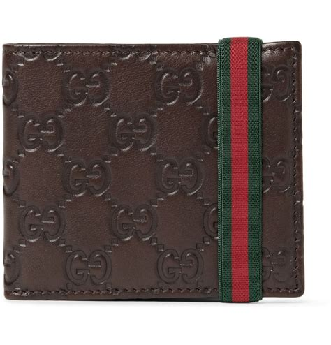 gucci leather wallet gucci ssima leather wallet in brown for lyst
