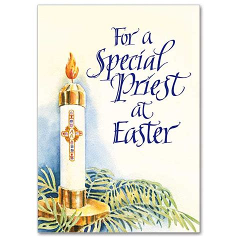 Birthday Cards For Catholic Priests For A Special Priest At Easter Easter Card For Priest