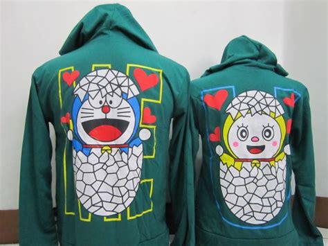 Baju Kembaran Family Doraemon Imlek jaket doraemon ijo b pusat souvenir kerajinan cenderamata dan pakaian