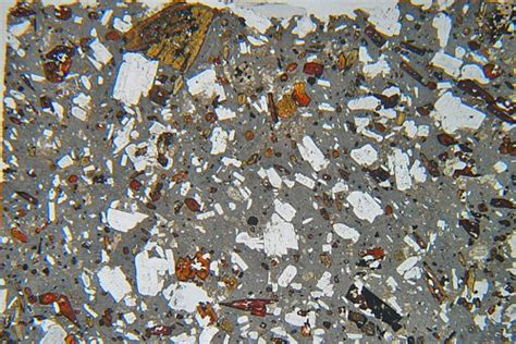 andesite thin section hornblende andesite from citaltepetl mexico thin section