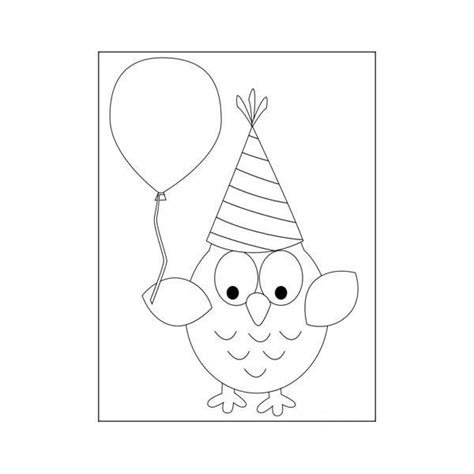 owl birthday coloring page 73 best images about owl coloring pages on pinterest