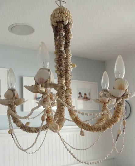 Seashell Chandelier Diy Diy Shell Chandeliers Completely Coastal