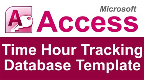 ms to hour time hour tracking database template