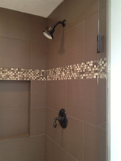 Accent Tiles For Shower by Shower With Mosaic Tile Accent Home Renovations