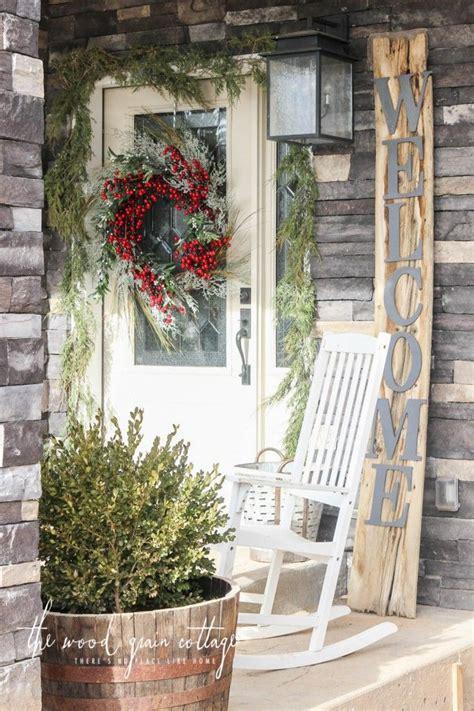 garland frame  front door christmas