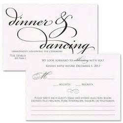 rsvp card wording wedding ideas receptions reception card and wedding