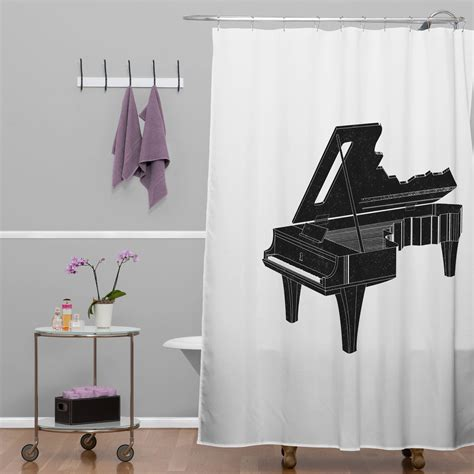 curtains soundtrack music is the key 1 shower curtain deny design touch