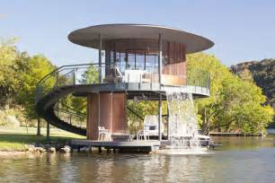 awesome floating house shore vista boat dock by bercy chen studio
