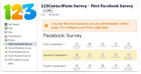 Create A Questionnaire - free facebook surveys app by 123formbuilder