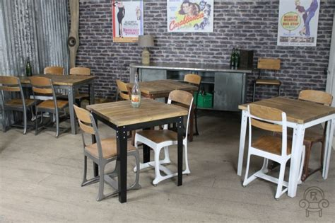 vintage inspired kitchen tables industrial style