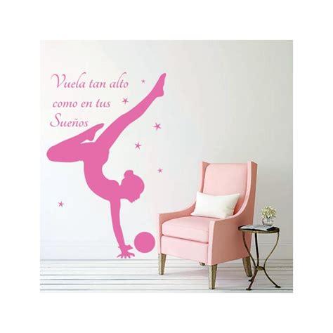 vinilos gimnasia ritmica vinilo para paredes de gimnasia r 237 tmica con frase quot vuela
