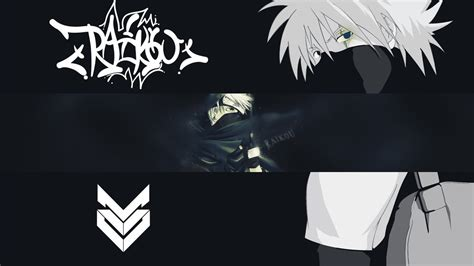 kakashi hatake youtube anime banner by raikoufx on