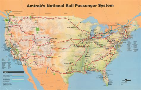 amtrak texas map amtrak system map 1993 amtrak history of america s railroad