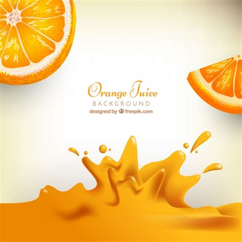 background juice realistic background of orange juice vector free download