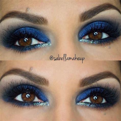 Eyeshadow Blue 40 eye makeup looks for brown stayglam