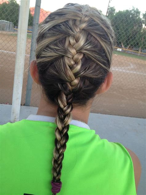 hairstyles for softball games top 25 ideas about softball on pinterest crown braids