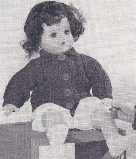 18 inch doll clothes knitting patterns vintage knitting pattern to make 18 inch knitted doll
