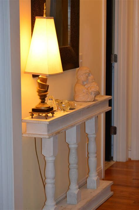 narrow console table diy