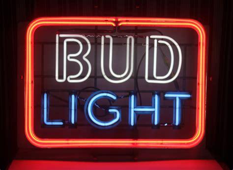 bud light neon sign vintage neon 3 color bud light sign large barware