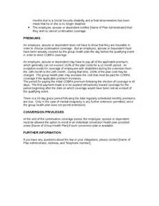 Health Insurance Increase Letter To Employees Cobra Rights Notification Letter Template Hashdoc