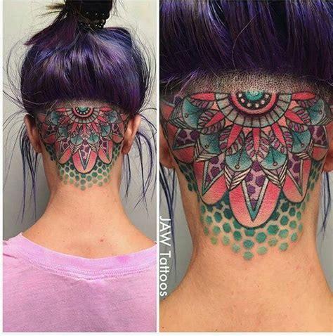tattoo on neck military feminine geometric neck tattoo by jessica white jaw