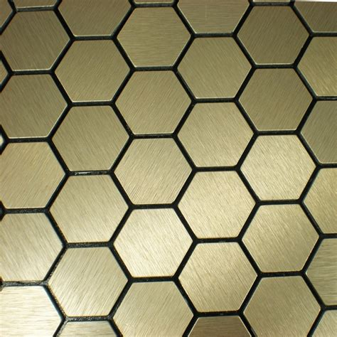mosaic hexagon pattern self adhesive aluminum composite mosaic tiles kitchen