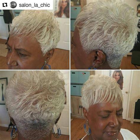 crown perm for gray hair love our skin against gray hair
