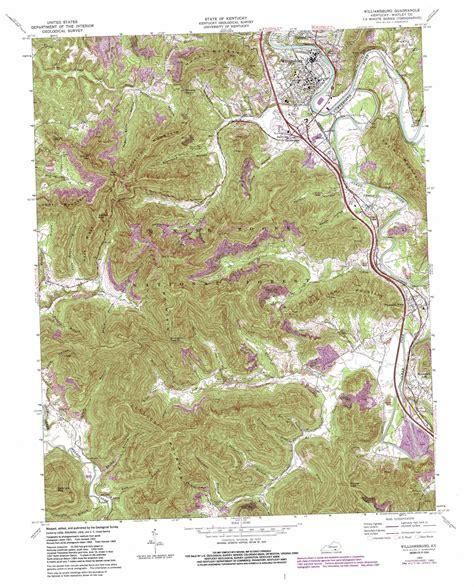 jellico kentucky map williamsburg topographic map ky usgs topo 36084f2