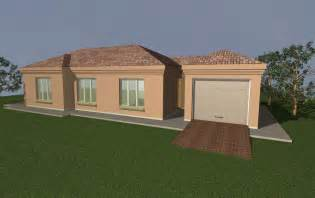 Bedroom house plans with double garage south africa