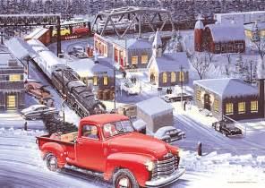 merry christmas   ken ebert winter scene petrolicious