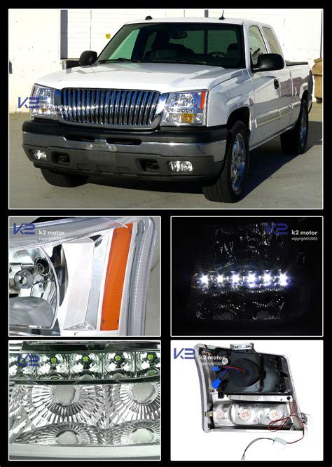 Raket Rs Air Chrome 800 03 05 silverado chrome smd led headlights bumper fog ls