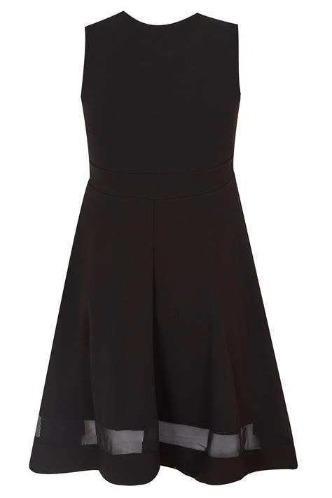 Black With List Scuba black scuba skater dress plus size 16 to 36