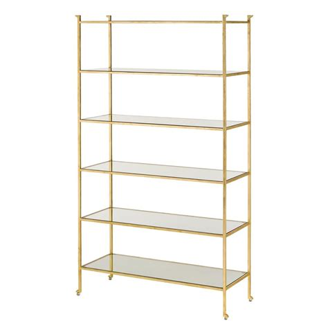 Classic Hollywood Regency Gold Leaf Etagere Display