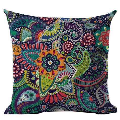 bohemian couch cover pillow case cover waist cushion cover home sofa decor